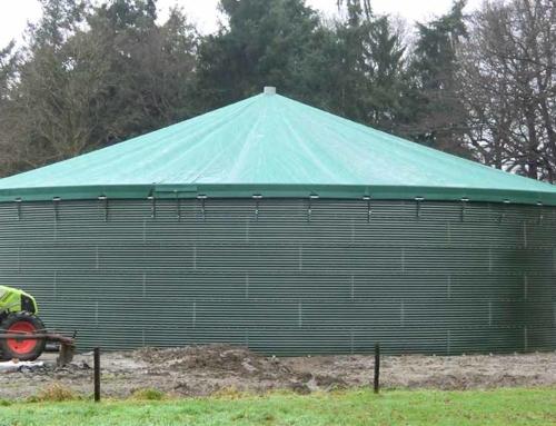 Golfplaten silo met spankap in Lochem